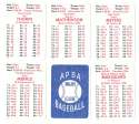 1913 APBA Season - NEW YORK GIANTS Team Set