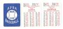 1913 APBA Season - WASHINGTON SENATORS (Twins) Team Set