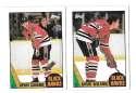 1987-88 Topps Hockey Team Set - Chicago Blackhawks
