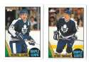 1987-88 Topps Hockey Team Set - Toronto Maple Leafs