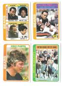 1978 Topps Football Team Set (EX+ Condition) - CHICAGO BEARS   B