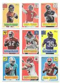 2015 Topps Heritage Silver HoloFoil Football 9 cards lot w/ John Elway