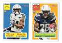 2015 Topps Heritage Football - SAN DIEGO CHARGERS