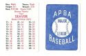 1980 APBA Season - CINCINNATI REDS Team Set