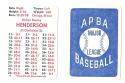 1980 APBA Season w/ EX players - OAKLAND As Team set