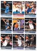 2011-12 NBA Hoops Dreams 9 card complete insert set