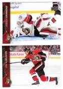 2015-16 Upper Deck (Base) Hockey Team Set - Ottawa Senators
