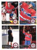 2014-15 Upper Deck (Base) Hockey Team Set - Montreal Canadiens