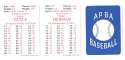 1927 APBA Reprint Season - BROOKLYN DODGERS Team Set