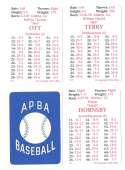 1927 APBA Reprint Season - NEW YORK GIANTS Team Set