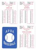 1927 APBA Reprint Season - ST LOUIS BROWN (Orioles) Team Set