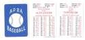 1927 APBA Reprint Season - ST LOUIS CARDINALS Team Set