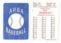 1936 APBA Season (Pencil Marks) - CINCINNATI REDS Team Set