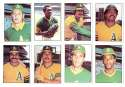 1976 SSPC - OAKLAND ATHLETICS / A'S Team Set