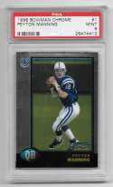 1998 Bowman Chrome Football - INDIANAPOLIS COLTS W/ PSA 9 Manning RC
