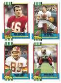 1990 Topps Traded Football - WASHINGTON REDSKINS