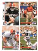 1992 Pro Set Football Team Set - CLEVELAND BROWNS