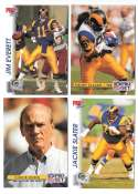 1992 Pro Set Football Team Set - LOS ANGELES RAMS