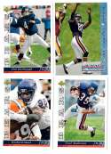 1993 Upper Deck Football Team Set - CHICAGO BEARS