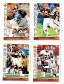 1993 Upper Deck Football Team Set - CLEVELAND BROWNS