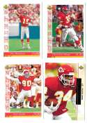 1993 Upper Deck Football Team Set - KANSAS CITY CHIEFS
