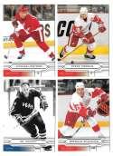 2004-05 Upper Deck Base (1-180) Hockey Team Set - Detroit Red Wings
