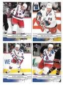 2004-05 Upper Deck Base (1-180) Hockey Team Set - New York Rangers