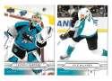 2004-05 Upper Deck Base (1-180) Hockey Team Set - San Jose Sharks