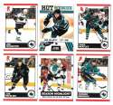 2010-11 Score (1-550) Hockey Team Set - San Jose Sharks
