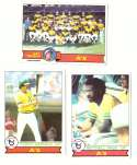 1979 Topps (overall VG+ Condition) - OAKLAND As Team set