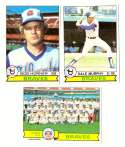 1979 Topps (overall VG+ Condition) - ATLANTA BRAVES Team Set