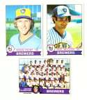1979 Topps (overall VG+ Condition) - MILWAUKEE BREWERS Team Set