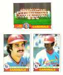 1979 Topps (overall VG+ Condition) - ST LOUIS CARDINALS Team Set