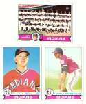 1979 Topps (overall VG+ Condition) - CLEVELAND INDIANS Team Set