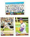 1979 Topps (overall VG+ Condition) - NEW YORK METS Team Set