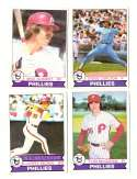 1979 Topps (overall VG+ Condition) - PHILADELPHIA PHILLIES Team Set