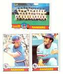 1979 Topps (overall VG+ Condition) - TEXAS RANGERS Team set