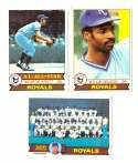 1979 Topps (overall VG+ Condition) - KANSAS CITY ROYALS Team Set