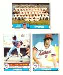 1979 Topps (overall VG+ Condition) - MINNESOTA TWINS Team Set