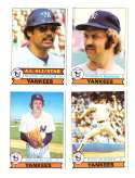 1979 Topps (overall VG+ Condition) - NEW YORK YANKEES Team Set