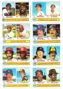 1979 Topps (overall VG+ Condition) - League Leaders 8 cards subset