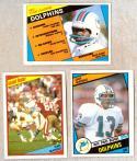 1984 Topps Football Team Set - MIAMI DOLPHINS w/ DAN MARINO RC (D)