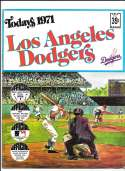 1971 Dell Today Stamps (Still in Albums) - LOS ANGELES DODGERS Team Set