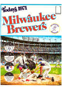 1971 Dell Today Stamps (Still in Albums) - MILWAUKEE BREWERS Team Set