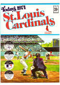 1971 Dell Today Stamps (Still in Albums) - ST LOUIS CARDINALS Team Set