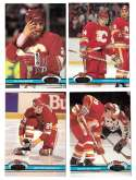1991-92 Topps Stadium Club Hockey Team Set - Calgary Flames
