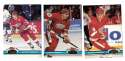 1991-92 Topps Stadium Club Hockey Team Set - Detroit Red Wings