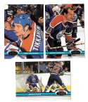 1991-92 Topps Stadium Club Hockey Team Set - Edmonton Oilers