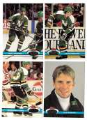 1991-92 Topps Stadium Club Hockey Team Set - Minnesota North Stars