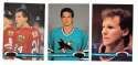 1991-92 Topps Stadium Club Hockey Team Set - San Jose Sharks